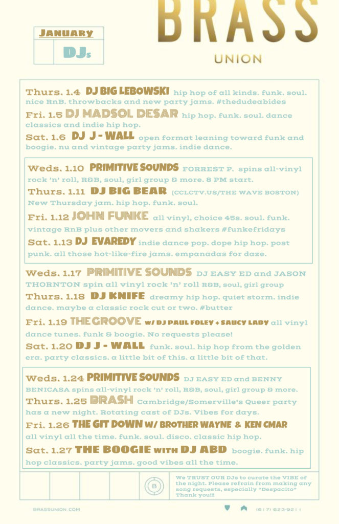 Brass DJ Poster JAN 18-2