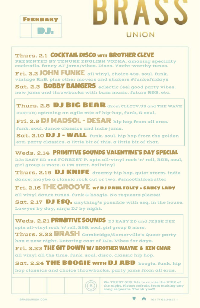 Brass DJ Poster FEB 18-3