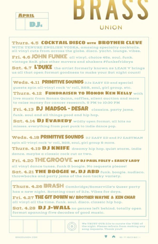 Brass DJ Poster APR 18